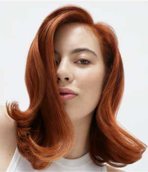 Hair Model Auburn Hair